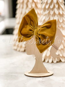 Gold Velvet Allison Bow