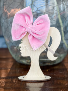 Bubble Gum Pink Velvet Allison Bow