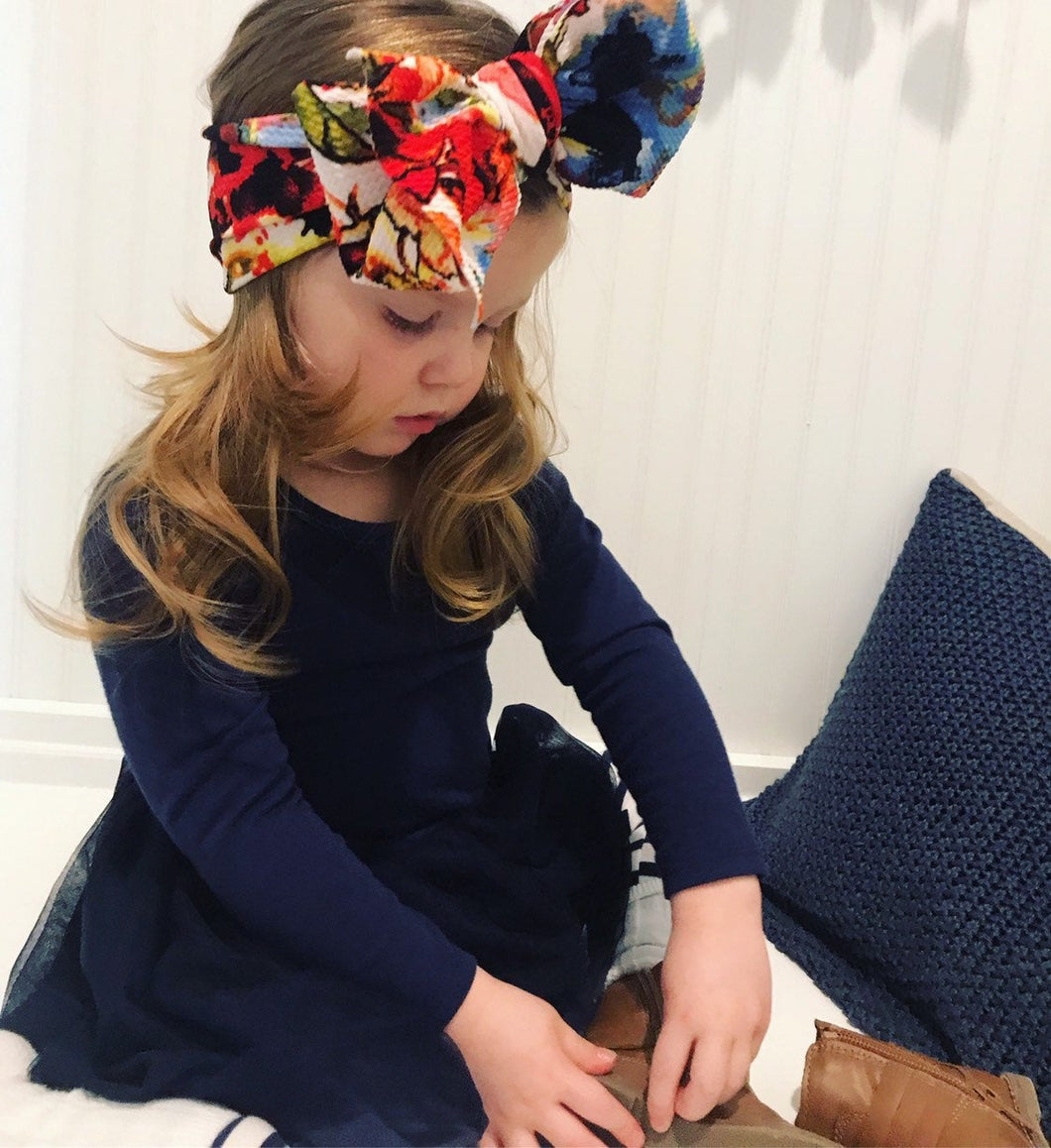 Bright Floral Headwrap