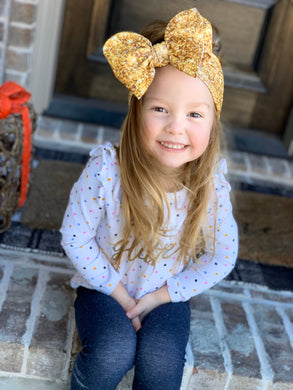 Sparkle in Gold Headwrap