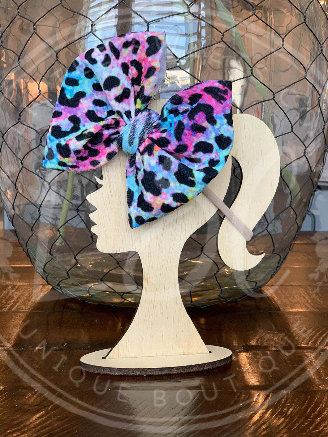 Rainbow Cheetah Allison Bow