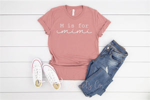 Personalized Letter T-Shirt