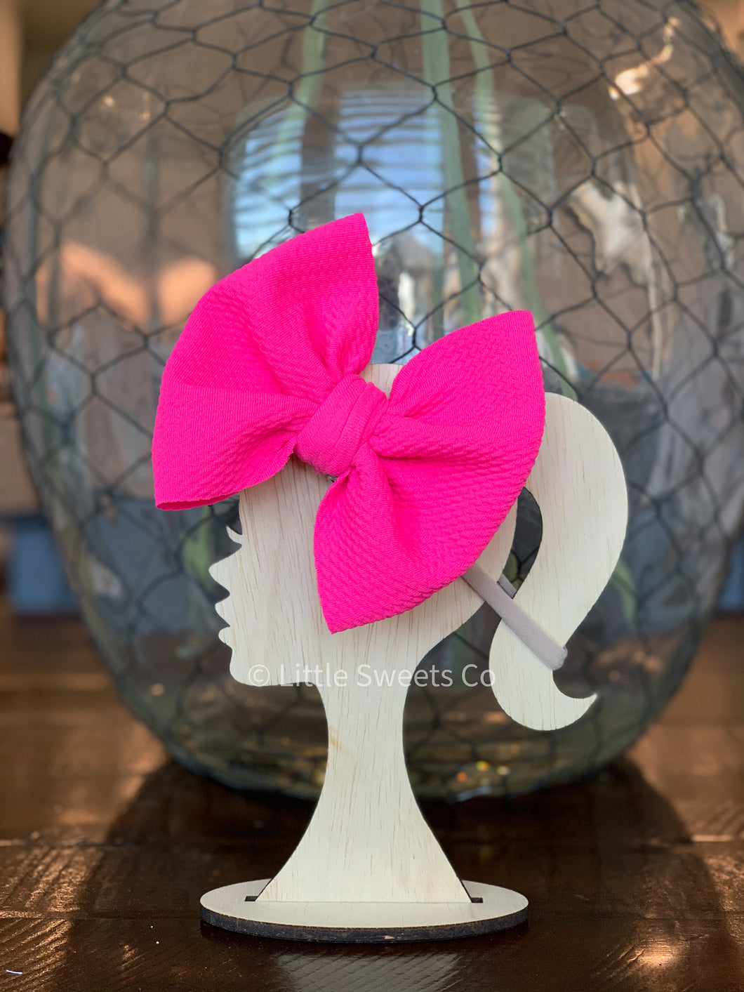 Neon Pink Allison Bow