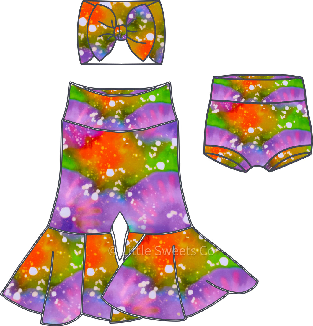 Halloween Tie-Dye Bell Bottoms/Fall Bell Bottoms/Toddler Bell Bottoms/Baby Bell Bottoms
