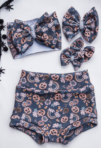 Happy Haunting High Waisted Bummies / Diaper Cover / Coming Home Outfit/ Birthday Outfit/ Smash Cake Outfit