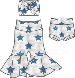 Star High Waisted Bummies / Diaper Cover / Coming Home Outfit/ Birthday Outfit/ Smash Cake Outfit
