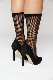 Fishnet High Heels