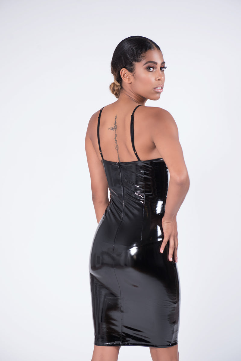 Black Ritz Latex Dress