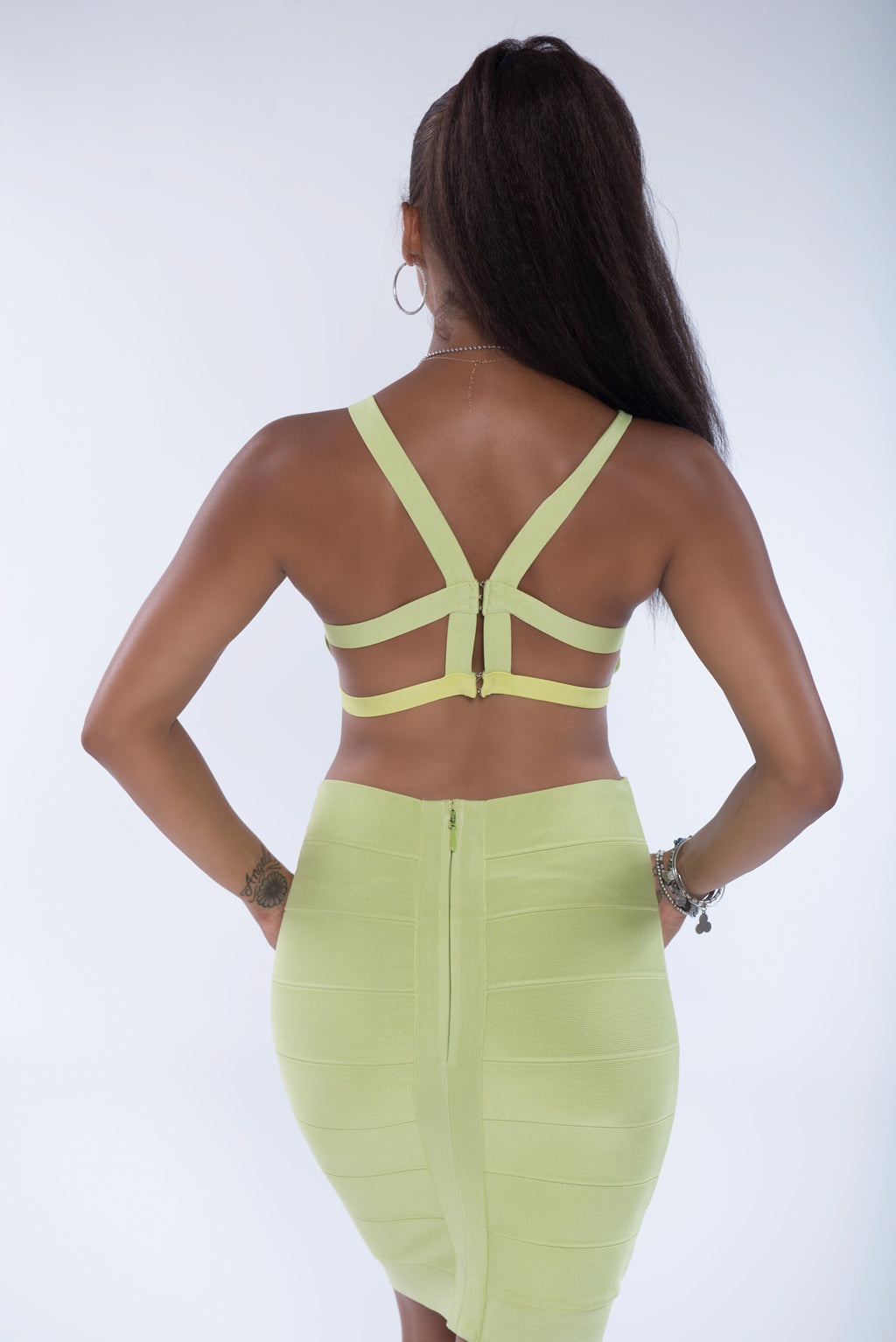 Anna Two Piece Bandage| Neon Green