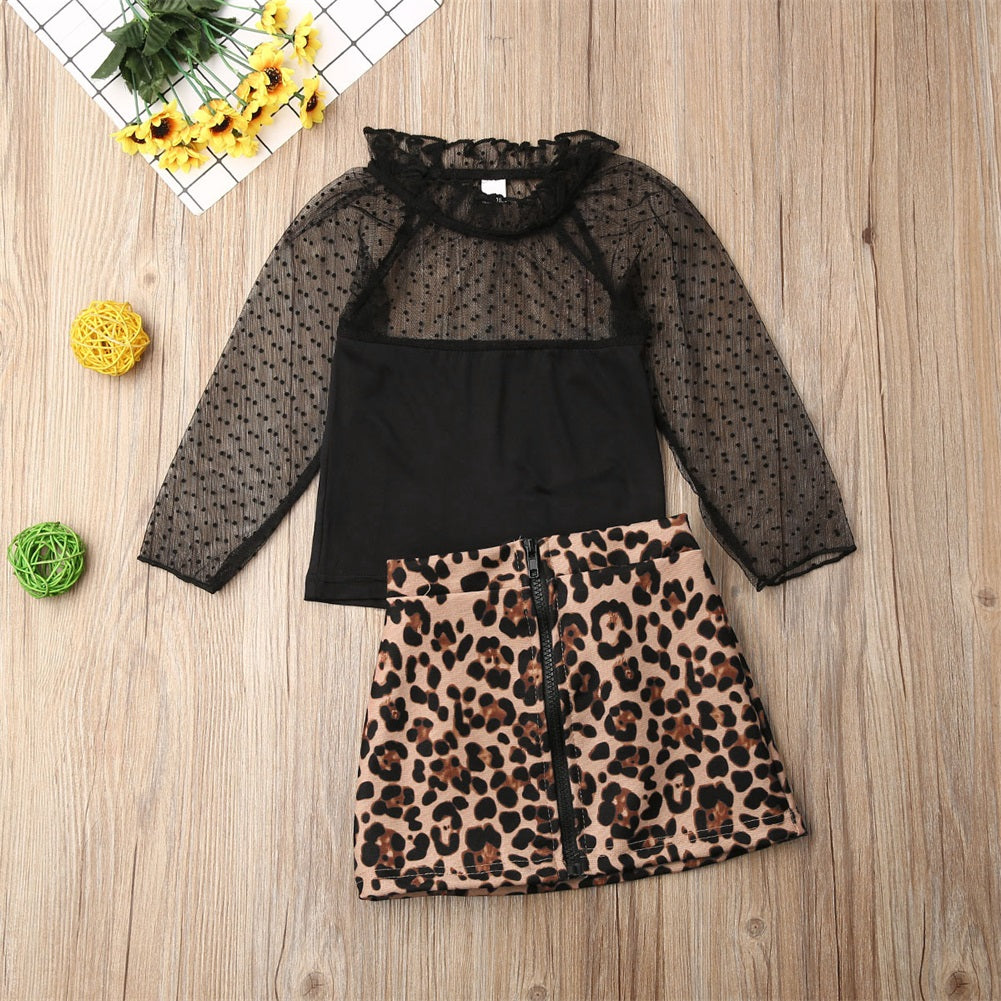 Leopard two piece set