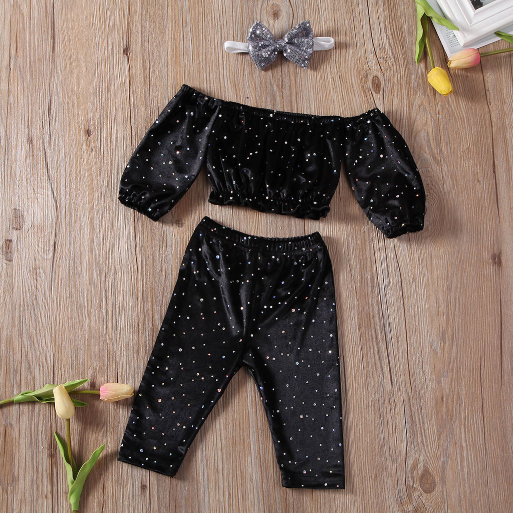 Sparkly velvet two piece