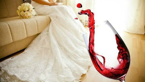 How do you get wine out of a wedding dress?