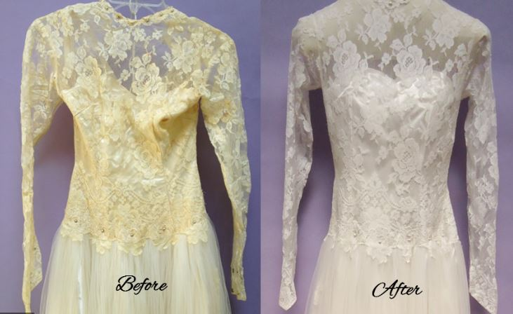 Can you fix a yellowed wedding dress?