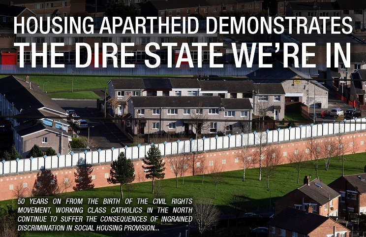 'The Dire State We're In - Housing Apartheid in the Six Counties', by The Skint Scribbler - from Issue One of An Spréach Magazine