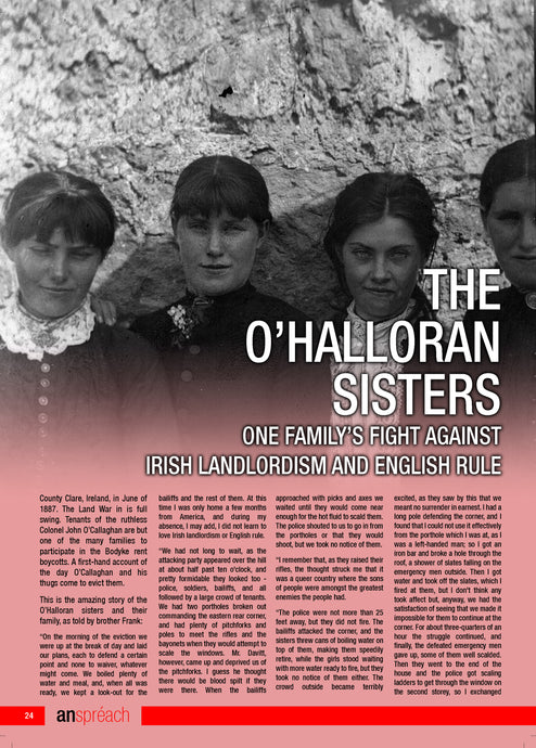 The O'Halloran Sisters, One Families Fight against Irish Landlordism & English Rule  |  An Spréach