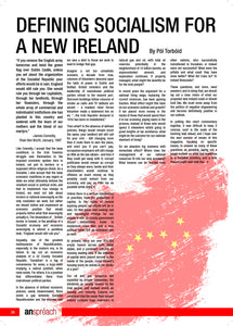 Defining Socialism for a New Ireland - Pól Torbóid  |  An Spréach