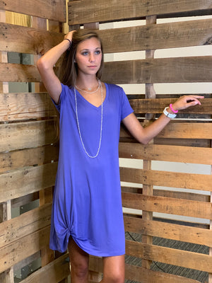 T-Shirt Dress w Front Twist