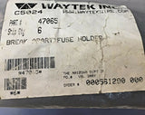 Waytek/Bussmann Break-Apart Fuse Block 30A 300V 47065 [Lot of 36] NOS