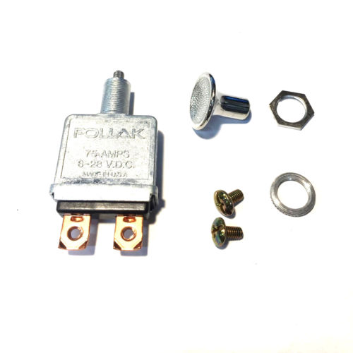 Pollak Push/Pull Lever Switch 75A 6-28VDC NOS