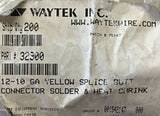 Waytek 12-10Ga. Yellow Butt Splice Connector 32900 [Lot of 12] NOS