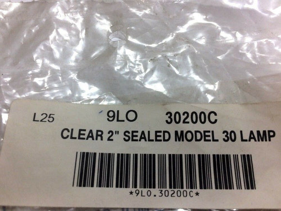 "Truck-Lite Clear 2"" Sealed Model 30 Lamp 30200C [Lot of 2] NOS"