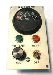 M-B Company Heater Switch Housing w/ Westach Thermometer