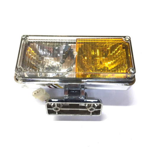 Whelen Mini Grille Master Clear/Amber Strobe Assembly w/ 2-Hole Mount
