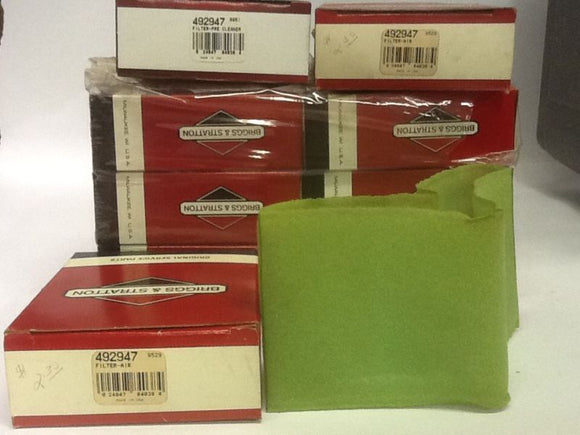 Briggs And Stratton Filter 492947 Lot of 9 NOS