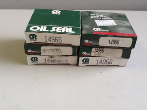 "Chicago Rawhide 14966 Oil Seal, 1-1/2""ID, 2.254""OD [6 IN LOT] NOS"