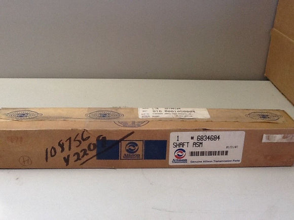 Allison 6834684 Main Transmission Shaft NOS