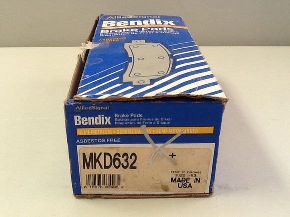 Allied Signal Bendix MKD632 Brake Pads NOS