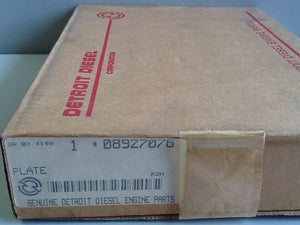 Detroit Diesel 08927076 Plate, Blower End NOS