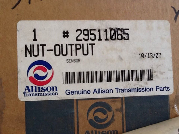 Allison 29511065 Output Sensor Nut NOS