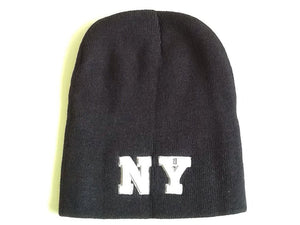 "Black Beanie With ""NY"" Embroidery NOS"