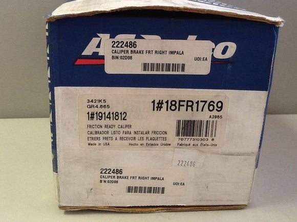 ACDelco 18FR1769  Front Right Brake Caliper NOS
