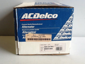 ACDelco 334-2478A Remanufactured Alternator NOS