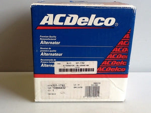 ACDelco 321-1792 Remanufactured Alternator NOS