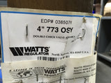 "Watts 4"" 773 OSY Double Check Valve Assembly (SKU# DJ Rack)"
