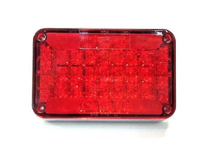 "Sound Off Red LED Tail Lamp 6.5"" x 4"" ECV461STTP NOS"