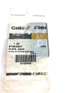 Case New Holland CNH Plate, Back 87423502 NOS