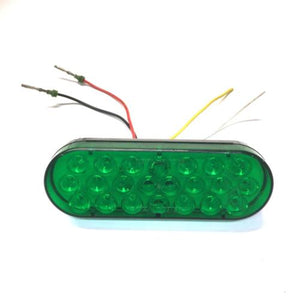 Public Safety Equipment PSE LED Oval Marker Light w/ Green Lens T05679