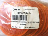 "Ram Products 3"" Amber Adhesive-Backed Reflector XVSM47A [Lot of 11] NOS"