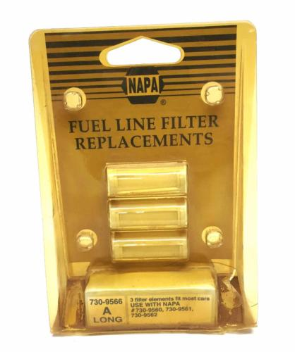 Napa Fuel Line Filter Replacements Pack of 3, 730-9566 NOS