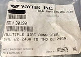 Waytek Multiple Wire Connector One 22-24 to Two 22-24 Large Bundle 30190 NOS