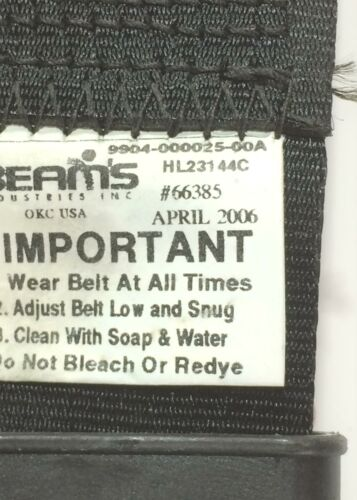 Beam's 9904-000025-00A Seat Belt [Lot of 2] NOS
