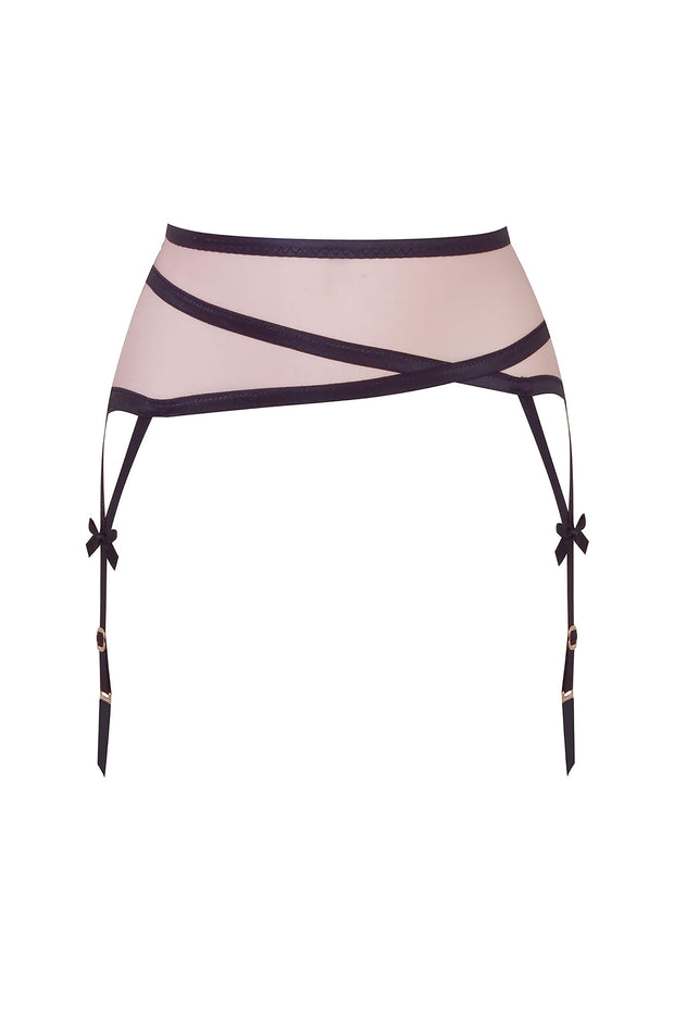 Joan pink/black suspender