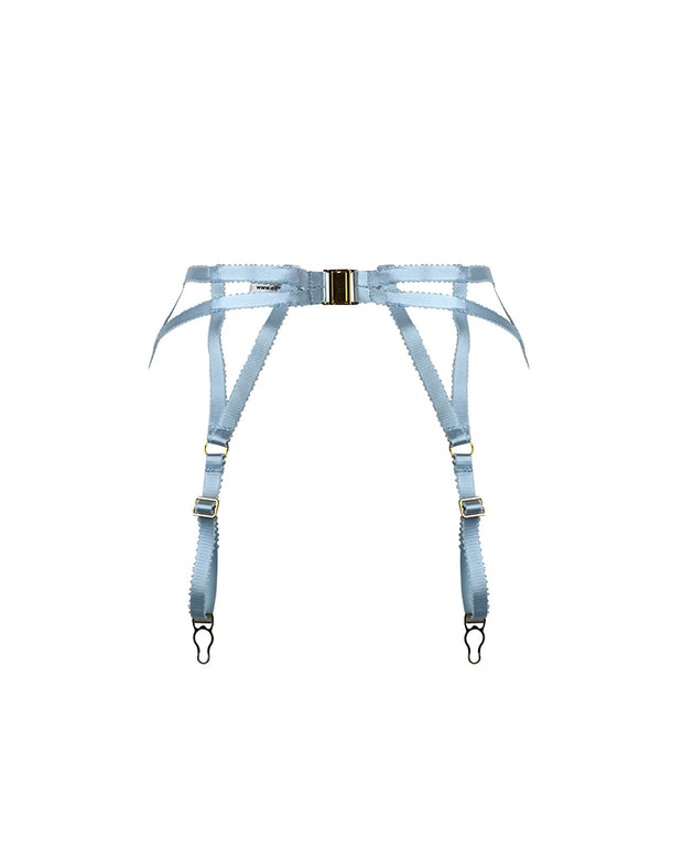 Blonde Frost Suspender belt