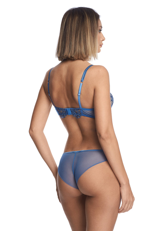 I.D. Sarrieri blue lingerie set with push up bra