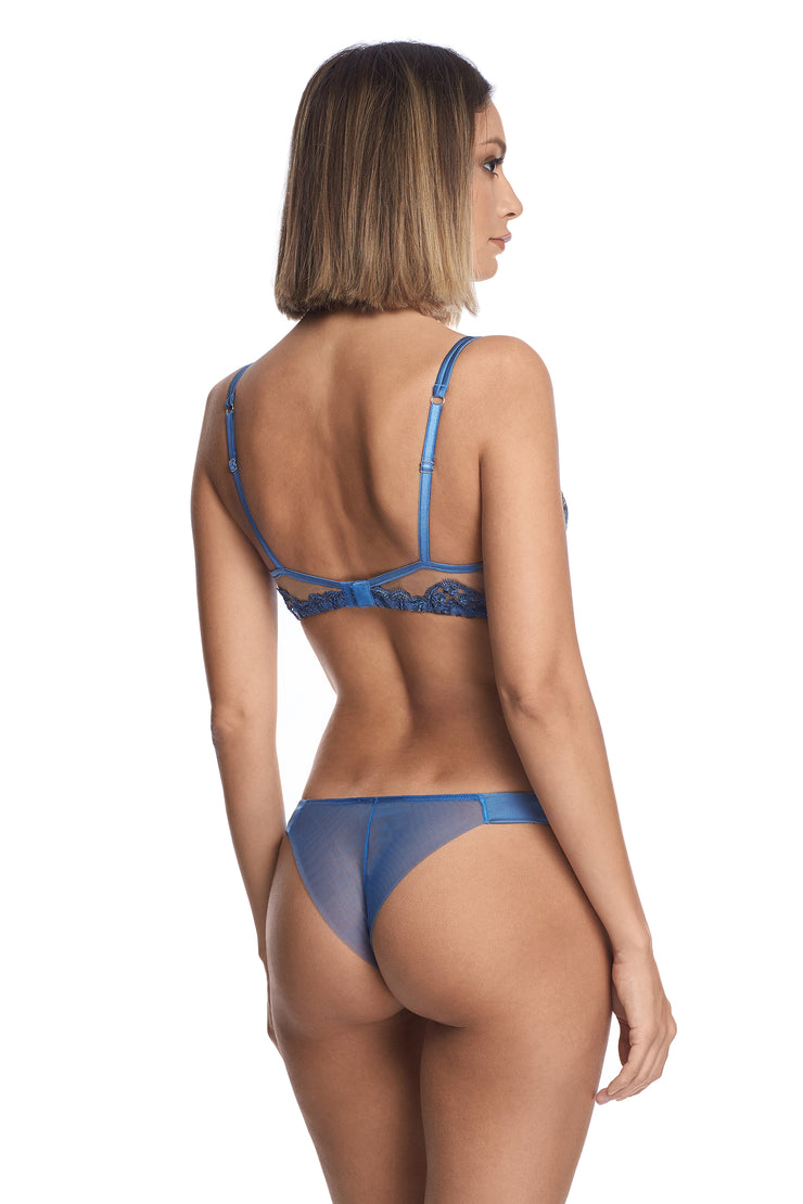 Midnight Affair Thong in Blue Mirage