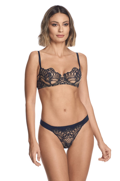 Navy blue lace lingerie by I.D. Sarrieri